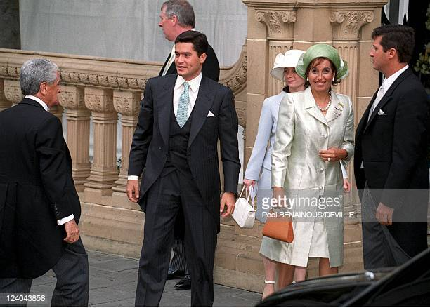 Wedding Of Princess Alexia Of Greece And Carlos Morales Quintana In London, United Kingdom On July 09, 1999 - Carlos Morales Quintana with mother.