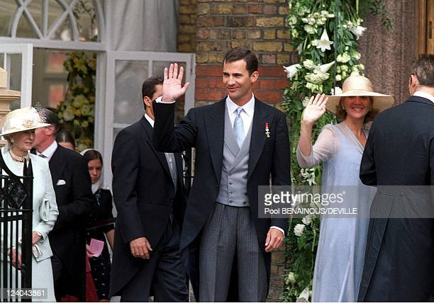 Wedding Of Princess Alexia Of Greece And Carlos Morales Quintana In London United Kingdom On July 09 1999 Crown Felipe and Christina of Spain