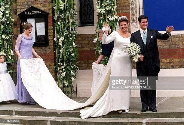 Wedding Of Princess Alexia Of Greece And Carlos Morales Quintana In London, United Kingdom On July 09, 1999 - Princess Alexia Of Greece And Carlos...