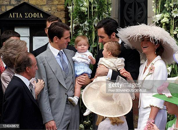 Wedding Of Princess Alexia Of Greece And Carlos Morales Quintana In London, United Kingdom On July 09, 1999 - Spanish and Greek royals.