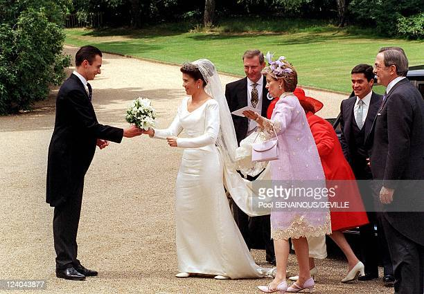 Wedding Of Princess Alexia Of Greece And Carlos Morales Quintana In London, United Kingdom On July 09, 1999 - Paul of Greece, Princess Alexia Of...