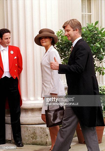Wedding Of Princess Alexia Of Greece And Carlos Morales Quintana In London, United Kingdom On July 09, 1999 - Prince Philippe and princess Victoria...