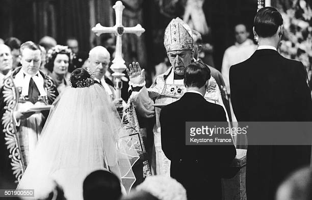 Wedding Of Princess Margaret With Antony Armstrong Jones At Westminster Abbey conducted by the Archbishop of Canterbury Dr Geoffrey Fisher on May 6,...