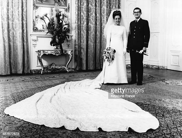 Wedding of Princess Margriet and Pieter van Vollenhoven, on January 10, 1967 in The Hague, Netherlands.