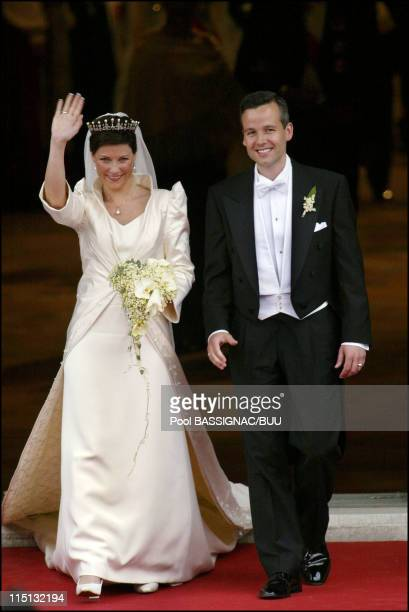 Wedding of Princess Martha Louise and Ari Behn in Trondheim, Norway on May 24, 2002.