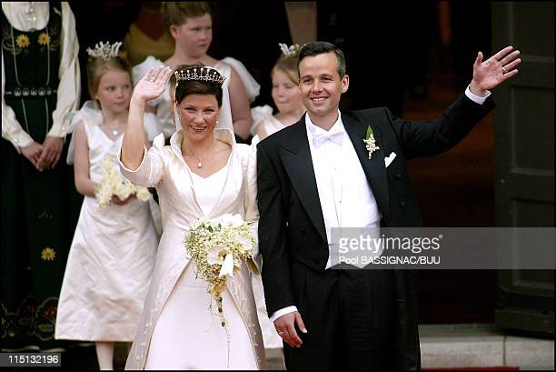 Wedding of Princess Martha Louise and Ari Behn in Trondheim Norway on May 24 2002