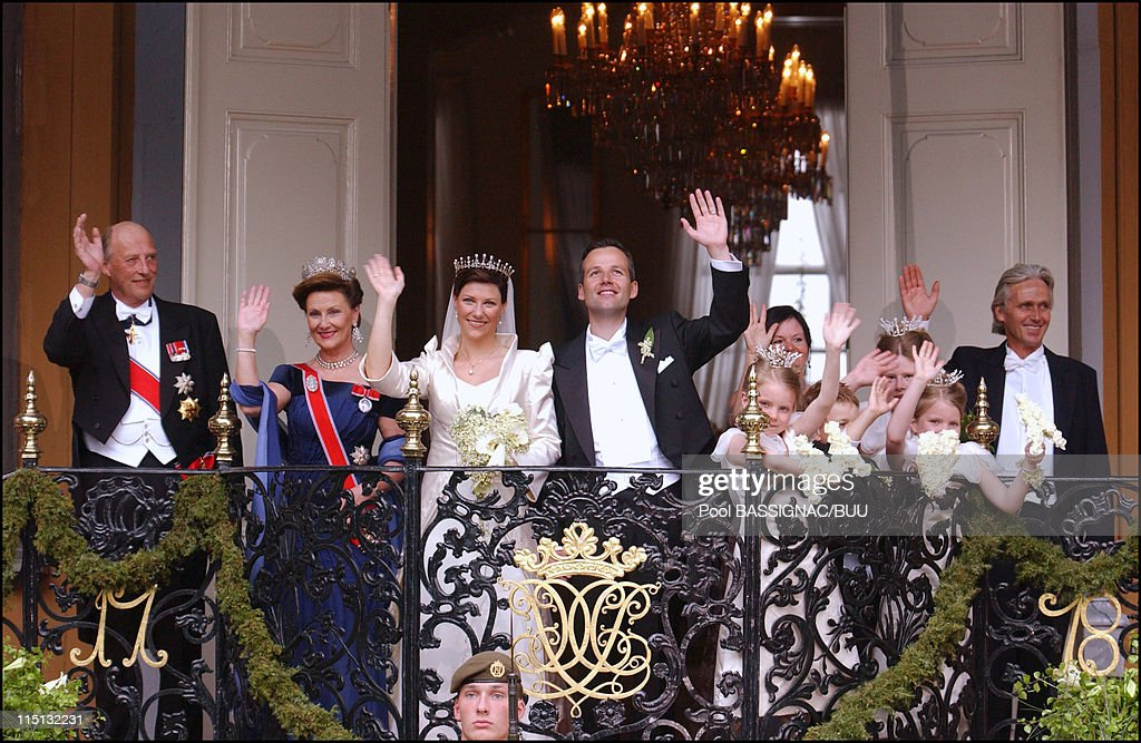 Wedding Of Princess Martha Louise And Ari Behn In Trondheim, Norway On May 24, 2002. : News Photo