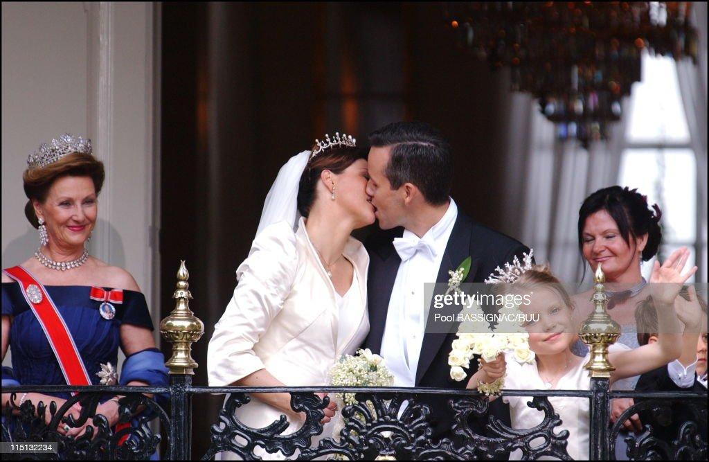 Wedding Of Princess Martha Louise And Ari Behn In Trondheim, Norway On May 24, 2002. : News Photo