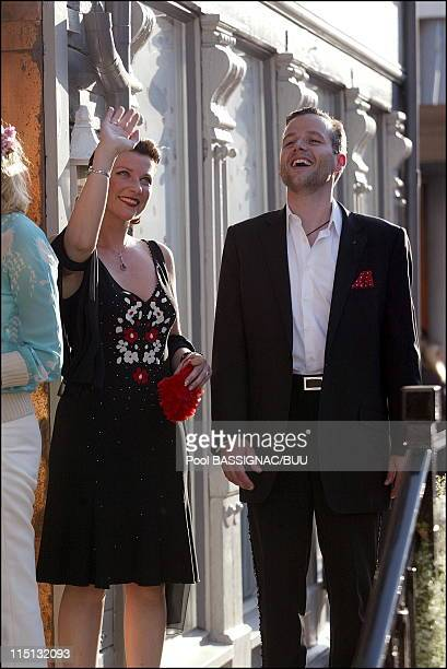 Wedding of princess Martha Louise and Ari Behn Private party at the restaurant Bolgen and Moi in Trondheim Norway on May 22 2002 Ari Behn and...