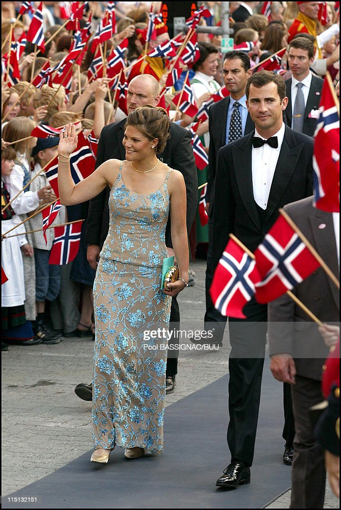 Wedding Of Princess Martha Louise And Ari Behn: Reception Hosted By The Government At The Sas Royal Garden Hotel In Trondheim, Norway On May 23, 2002. : News Photo