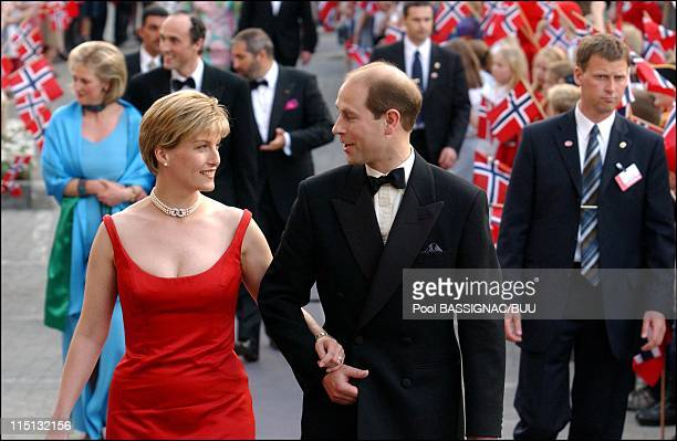 Wedding of Princess Martha Louise and Ari Behn: Reception hosted by the government at the SAS Royal Garden Hotel in Trondheim, Norway on May 23, 2002...