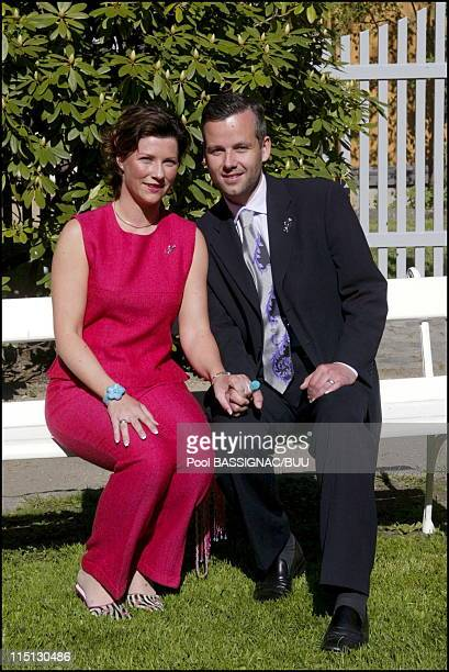 Wedding of Princess Martha Louise and Mr Ari Behn in Trondheim Norway on May 22 2002