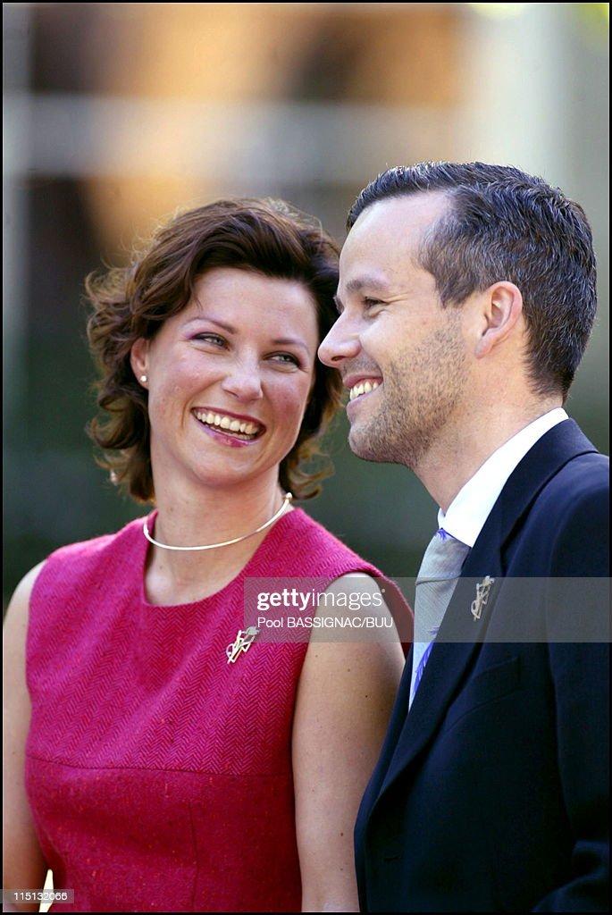 Wedding Of Princess Martha Louise And Mr Ari Behn In Trondheim, Norway On May 22, 2002. : News Photo