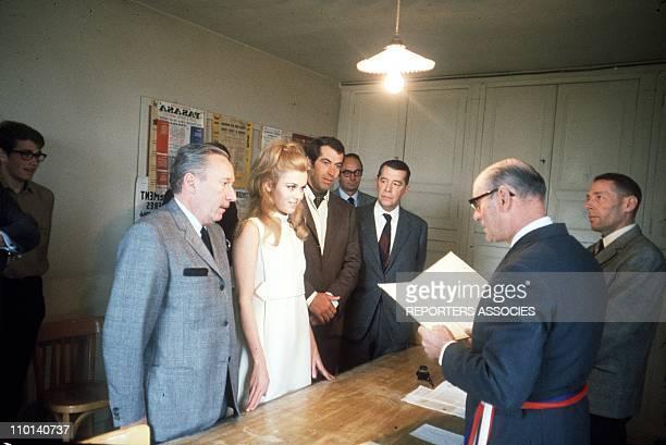 Wedding of Roger Vadim and Jane Fonda in France