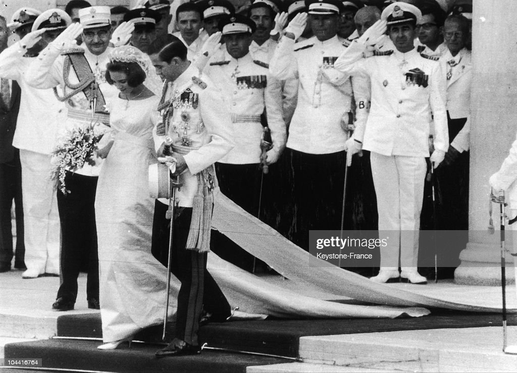 Wedding of the prince Constantin. On SEPTEMBER in 1964. ATHENS.
