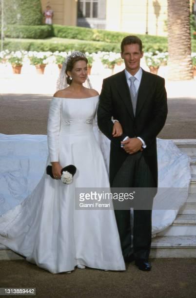Wedding of the Princess Cristina dof Borbon and Iñaqui Undargarin, 'Palacio de Pedralbes', Barcelona, Spain, 1997.