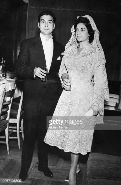 Wedding of the Spanish actress singer and flamenco dancer Lola Flores with Antonio Gonzalez El Escorial Madrid Spain 1957