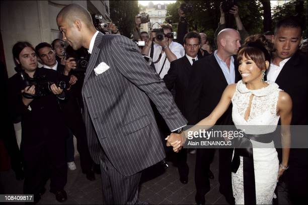Wedding of the year Diner for Eva Longoria and Tony Parker with their friends and family at the Baccarat restaurant after the civil ceremony in Paris...