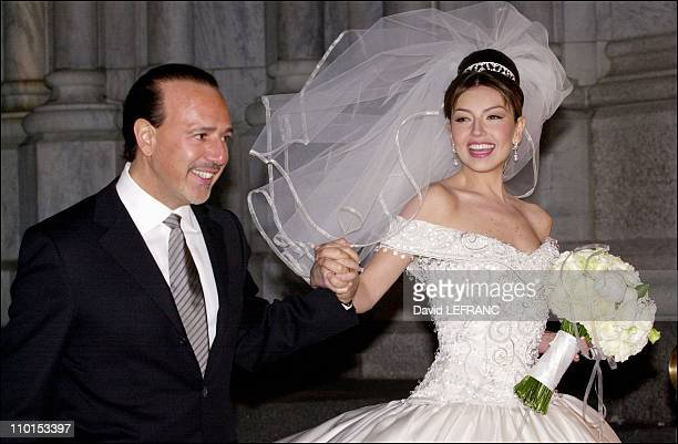 Wedding Of Tommy Mottola And Mexican Singer Thailand In New York United States On December 02
