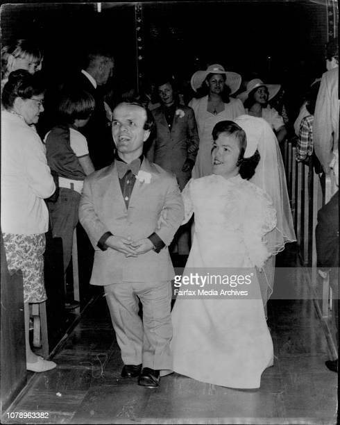 Wedding of two midgets at St Anne's Catholic Church South Strathfield Bride Muriel Scott Groom Gram Cottrell Best Man Philip Bryant of...
