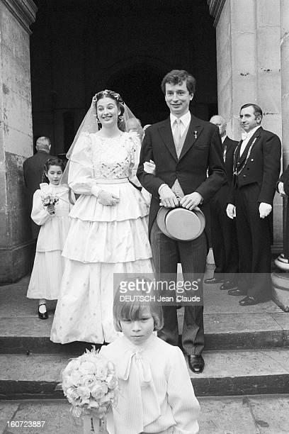 Wedding Of Vincent De Liechtenstein And Helene Pod Brissac At The Invalides Paris France Paris le 9 mars 1981 Vincent de LIECHTENSTEIN épouse Hélène...