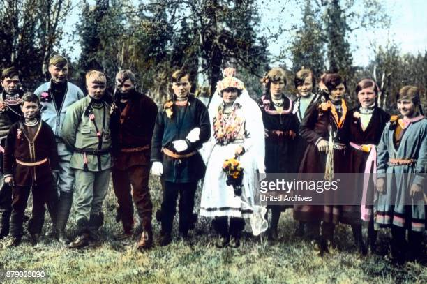 A wedding party in Lapland Sweden