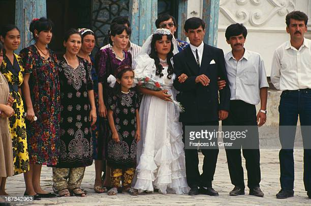 A wedding party poses for a photograph Bukhara Silk Route September 1993