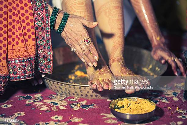 wedding photography - haldi ceremony - ceremony stock pictures, royalty-free photos & images