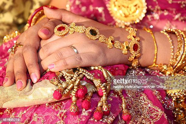 a wedding photography - bangladeshi wedding stock photos and pictures