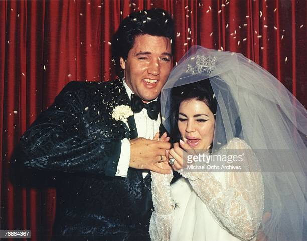 Wedding Photos of Elvis Presley to Priscilla on May 01,1967
