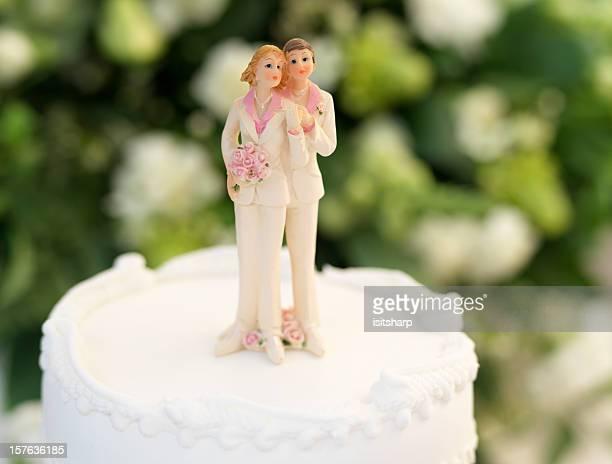 wedding - wedding cake figurine stock pictures, royalty-free photos & images