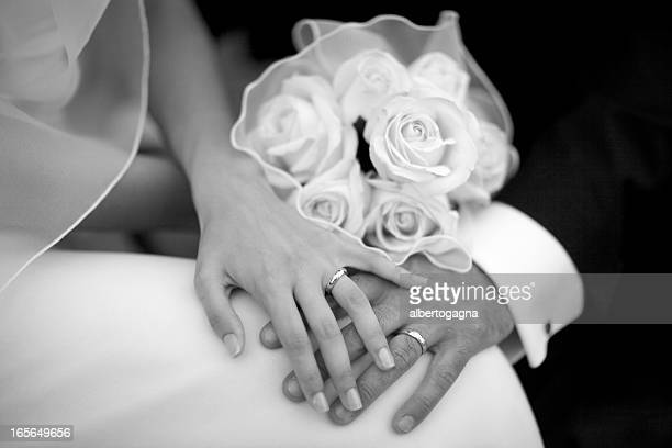 wedding - black and white hands stock pictures, royalty-free photos & images