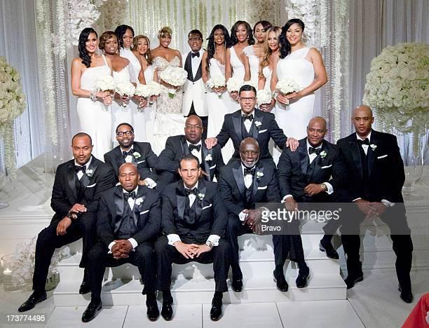 NENE Wedding Pictured Bridesmaids Laura Govan Lexis Mason Marlo Hampton Pat SumpterDavis bride NeNe Leakes groom Gregg Leakes bridesmaids Jennifer...