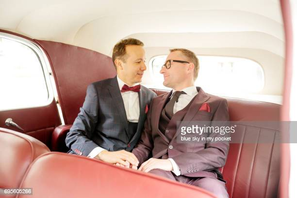 Wedding pictures for a same sex couple.