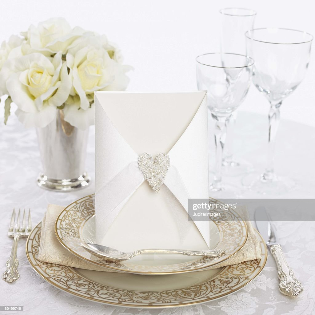 Wedding place setting : ストックフォト
