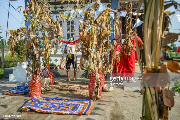 Wedding preparations in Sauraha Chitwan National Park Nepal on March 28 2019