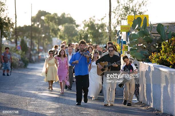 Wedding procession Oia
