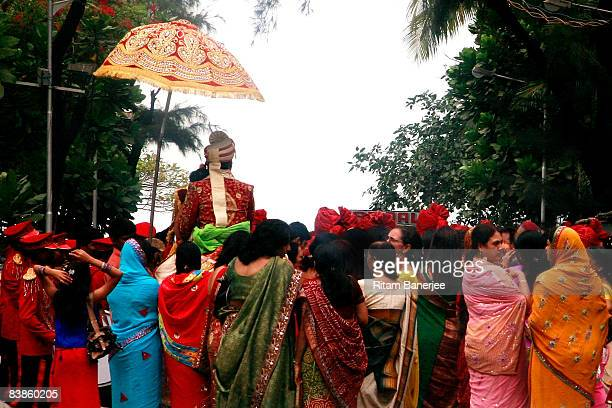 Wedding procession takes place a few hundred meters away from the Dadar Crematorium on November 30, 2008 in Mumbai , India. The city of Mumbai was...
