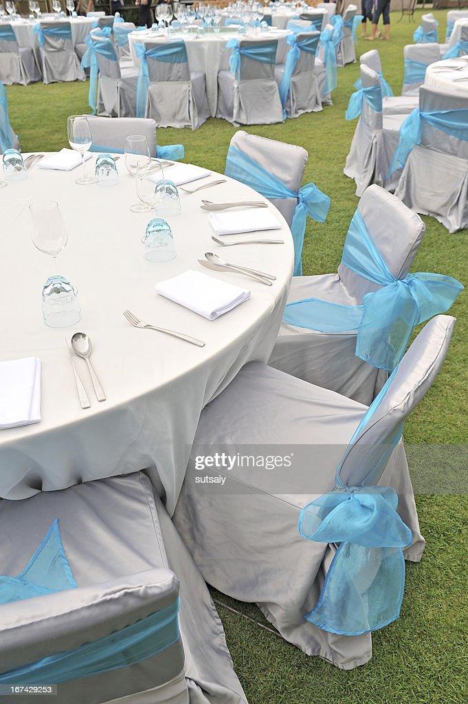 Wedding reception area : Stock Photo