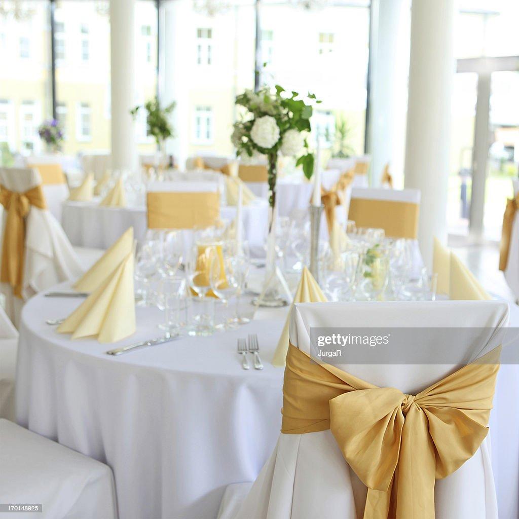 Wedding Reception Balroom Hall Table Setting  Stock Photo  sc 1 st  Getty Images & Wedding Reception Balroom Hall Table Setting Stock Photo | Getty Images