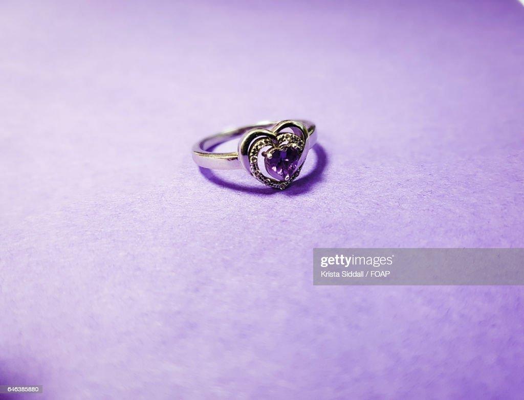 Wedding Ring Purple Background