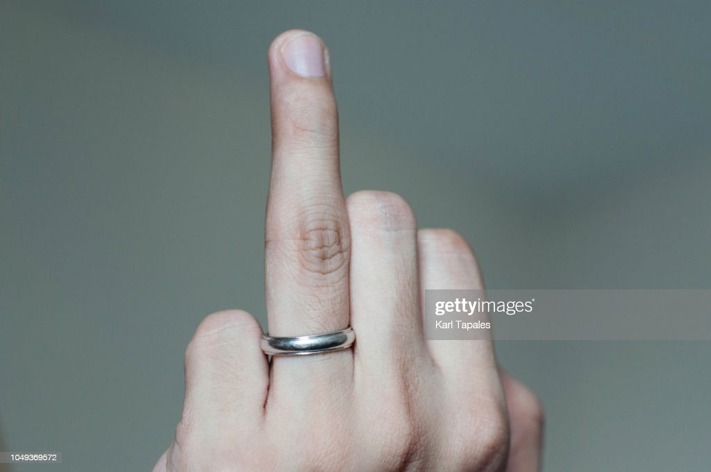 Wedding Ring Of A Young Man Worn On The Ring Finger Stock Photo
