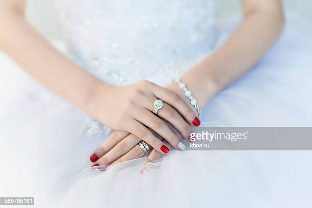Wedding ring on her finger
