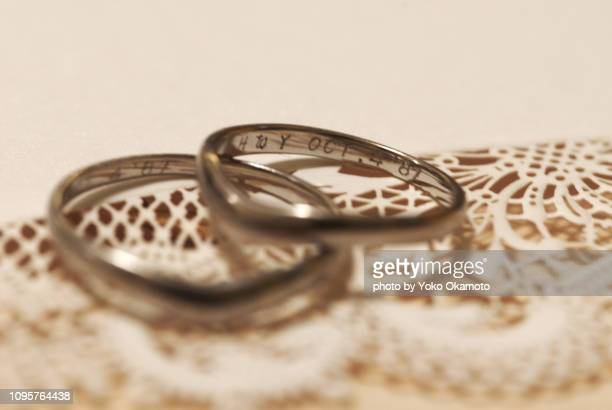 wedding ring - his and hers stock pictures, royalty-free photos & images