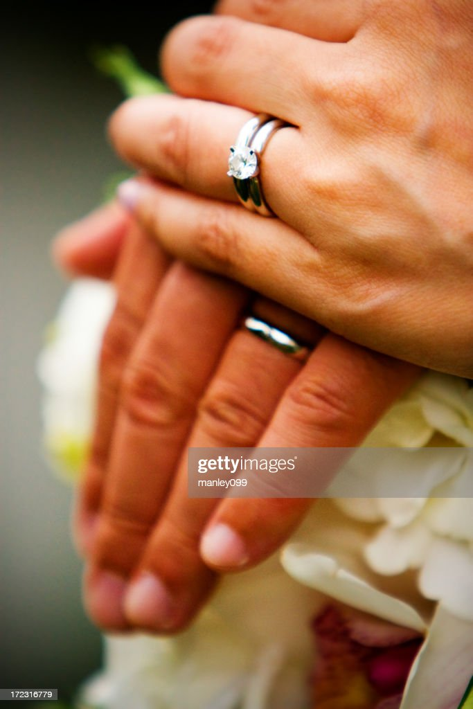Wedding ring hand for woman