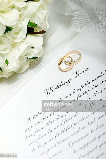 wedding rings and vows - wedding vows stock pictures, royalty-free photos & images