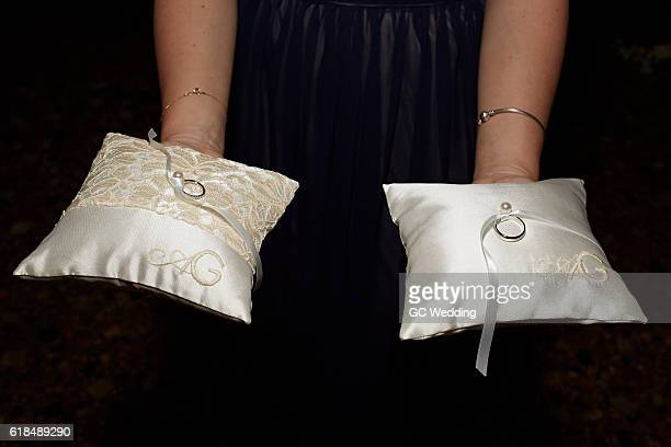 Wedding rings at George Clooney and Amal Alamuddin Wedding on September 27 2014 in Venice Italy