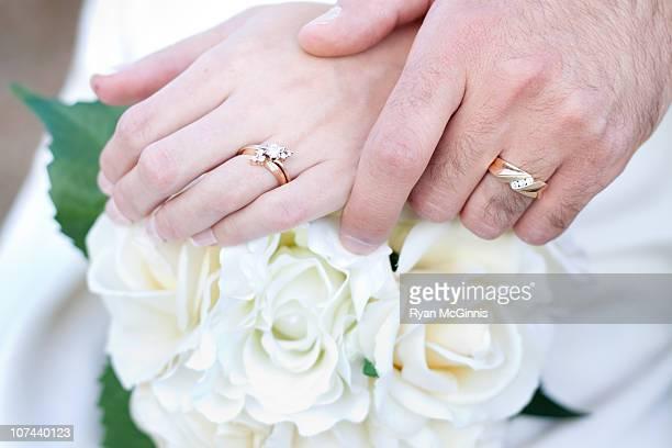 wedding rings closeup - ryan mcginnis stock photos and pictures