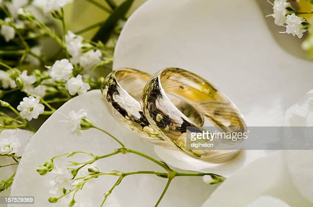 Wedding Rings in the Bouquet