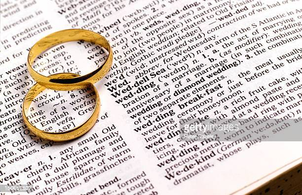 Wedding rings on dictionary